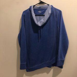 Calvin Klein cowl neck Sweatshirt blue lightweight